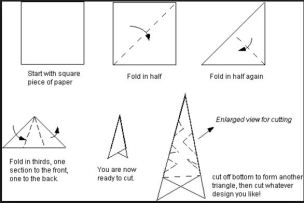 How to fold a paper snowflake