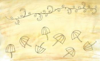 Parasols in Wind