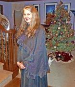 Annie in sparkle cape
