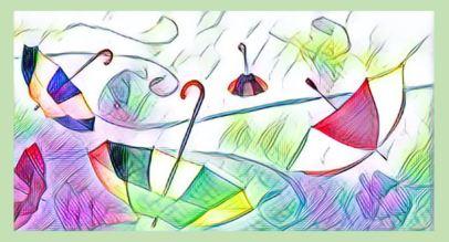umbrellas striped