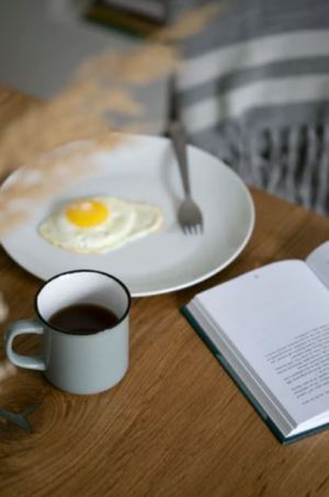 eggs and coffee